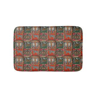 Abstract African Art tribal colorful mat Bath Mats