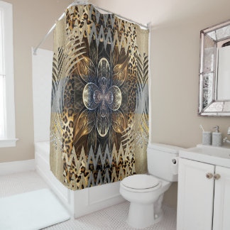 Abstract African Wild Flower Shower Curtain