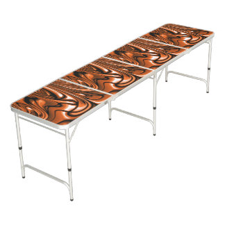 Abstract Amber Ocean Pong Table