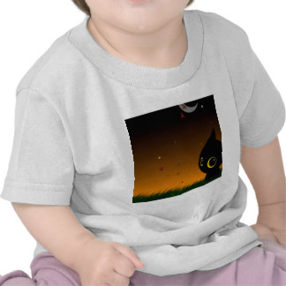 Abstract Animal Cute Night Cat T Shirts