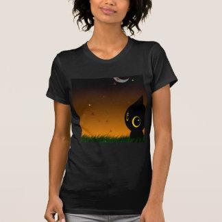 Abstract Animal Cute Night Cat Tshirt