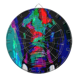 abstract  animal, ellephant, colourfull, cool dartboard