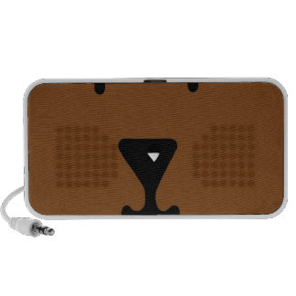 Abstract Animal Flat Bear Mp3 Speakers