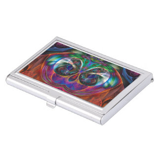 Abstract Apophysis Owl I Business Card Holder