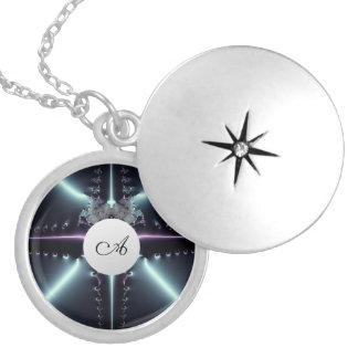 Abstract Art Blue Star Silver Plated Necklace