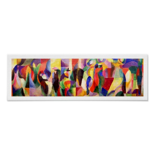 Abstract Art by Sonia Delaunay - Tango Bal Bullier Posters