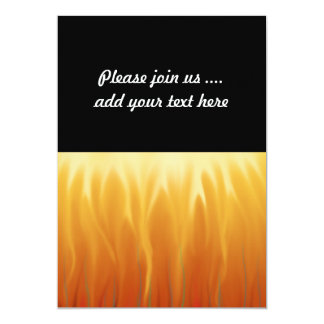 Abstract Art - Fire - Background Flames 13 Cm X 18 Cm Invitation Card