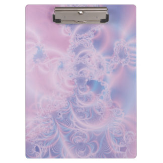 Abstract Art Glowing Pink Clipboard