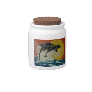 ABSTRACT ART JAR CANDY JAR