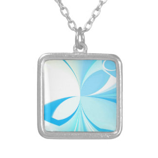 ABSTRACT ART SQUARE PENDANT NECKLACE