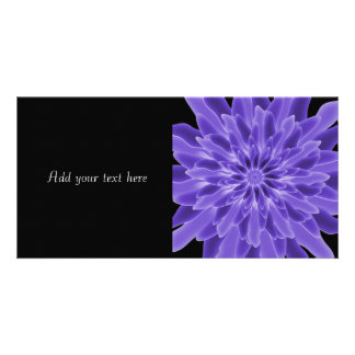 Abstract Art Periwinkle Flower Photo Card