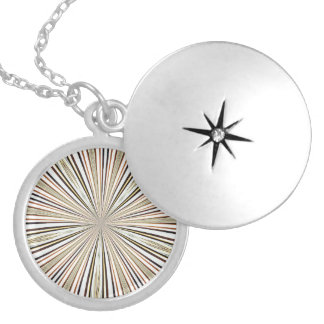 ABSTRACT ART ROUND LOCKET NECKLACE
