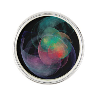 Abstract Art Space Shell Lapel Pin