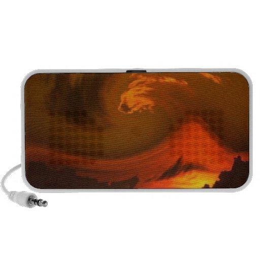 ABSTRACT ART SUNSET MP3 SPEAKER
