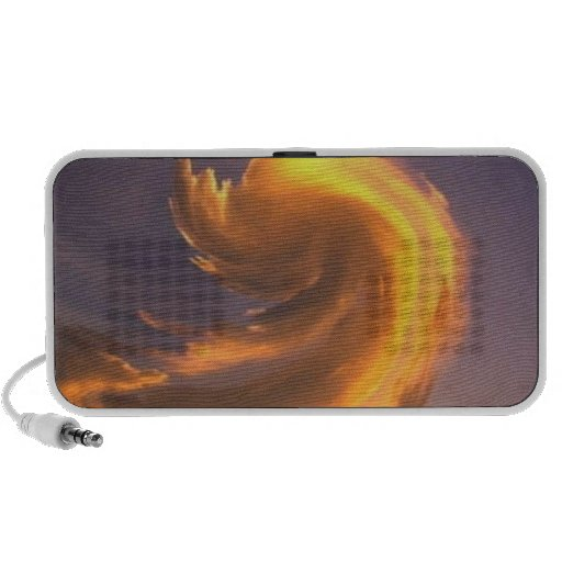 ABSTRACT ART SUNSET TRAVELLING SPEAKERS