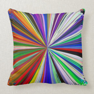Abstract Art Swirl Rainbow Colorful Background 1 Throw Cushion