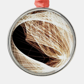 abstract art swirls - abyss christmas ornament