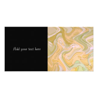 Abstract Art Yellow Green Swirls Picture Card