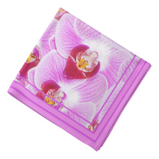 Abstract Background of an Orchid Photograph Bandana