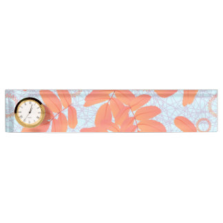 Abstract background of leaves desk name plate