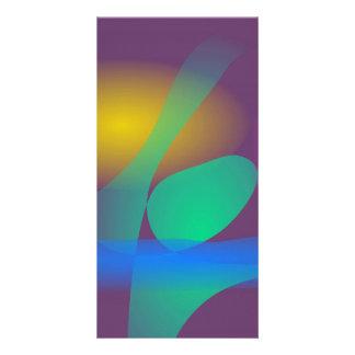 Abstract Balance Photo Card Template