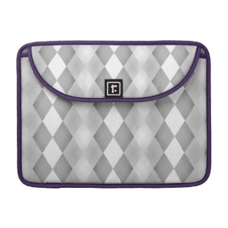 Abstract Black and White Square Pattern Sleeve For MacBook Pro