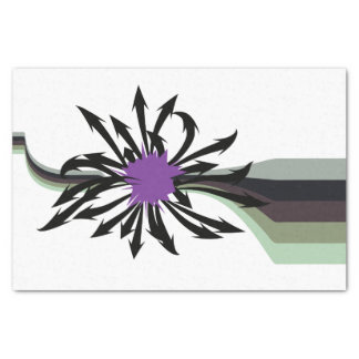 Abstract Black Arrows Tissue Paper