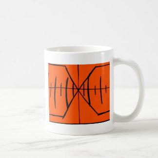 Abstract Black/Orange Design #1 Basic White Mug