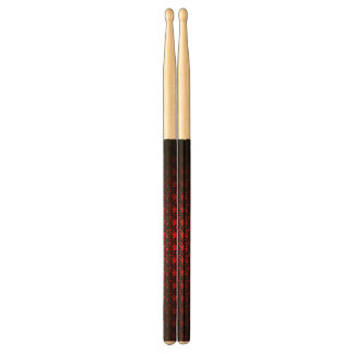abstract black&red drumsticks