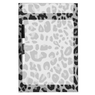 Abstract Black White Hipster Cheetah Animal Print Dry Erase Board