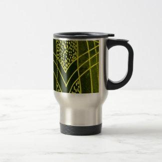 Abstract Black/Yellow Design #1 Stainless Steel Travel Mug