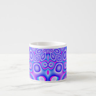 Abstract Blue and Pink Psychedelia Espresso Cup