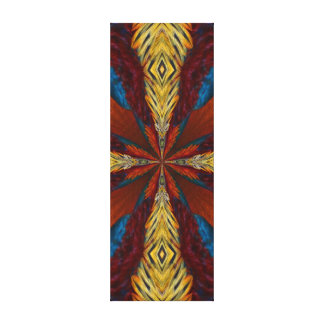 Abstract Blue Brown Orange Pattern Canvas Print