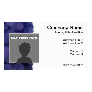 Abstract Blue Circles Pack Of Standard Business Cards