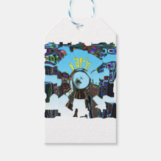 Abstract Blue Gift Tags