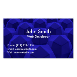 Abstract Blue Professional Business Card