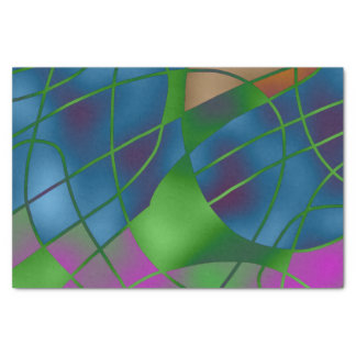 Abstract Blue Tissue Paper
