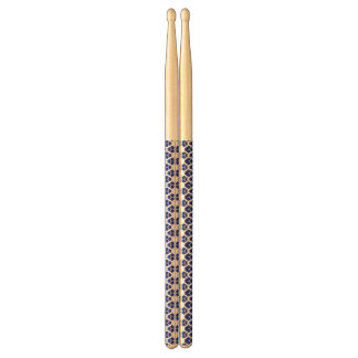 Abstract blue&white drumsticks