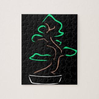 Abstract bonsai drawing jigsaw puzzle
