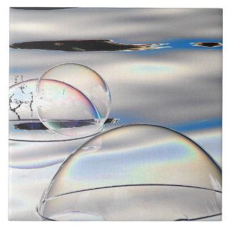 abstract Bubbles on water ceramic tile