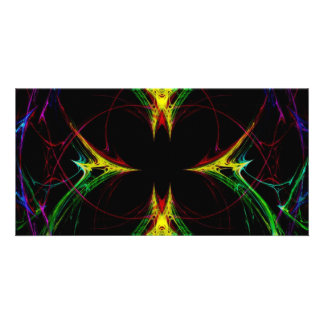 Abstract Butterfly 3 Photo Card Template