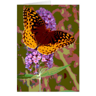 Abstract Butterfly Note Card