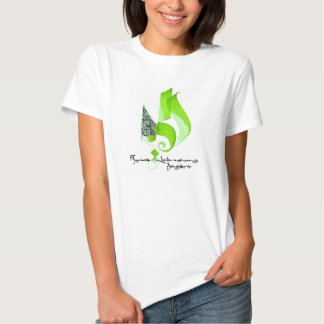 ABSTRACT CALLIGRAPHY ART #3 GREEN T SHIRTS