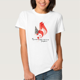 ABSTRACT CALLIGRAPHY ART #3 RED SHIRTS