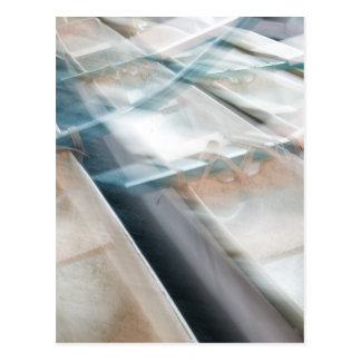 Abstract Canoes Postcard