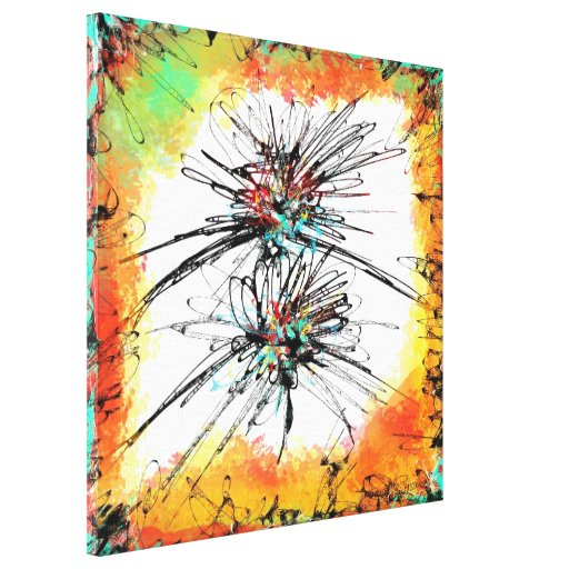 abstract stretched canvas prints