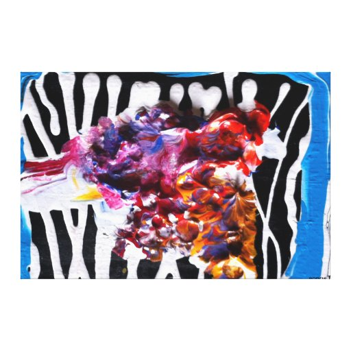 abstract stretched canvas print