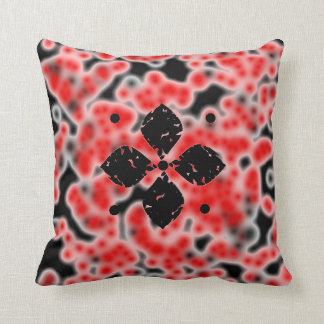 Abstract cells and flowers cushion