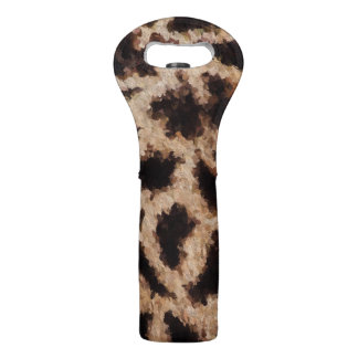 Abstract Cheetah Wine Bag