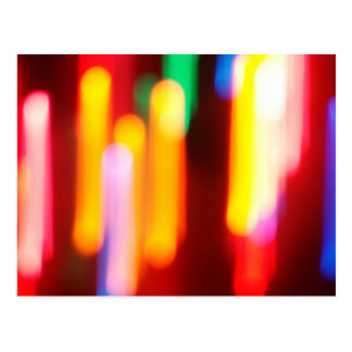 Abstract Christmas Lights Postcard
